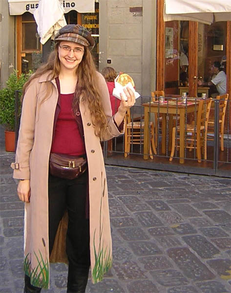 Me, in Italy, with food.  Perfection.