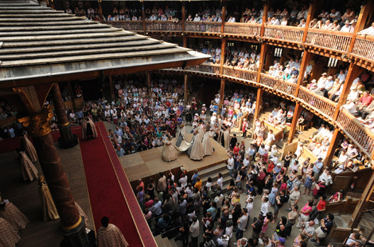 You can't take photos at the Globe (or other theaters) so I must rely on borrowed ones.