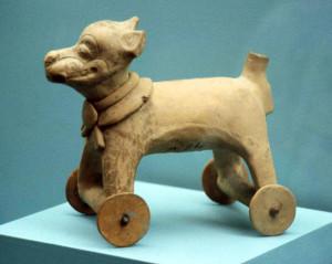Aztec wheeled toy
