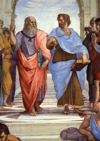 Plato and Aristotle, almost agreeing.