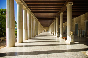 "A ""stoa"" i.e. covered porch, reconstructed in the Athenian agora. The name ""Stoic"" comes becuase they held meetings in a stoa. So really ""Porch-ist"" is the literal translation. The more you know!"