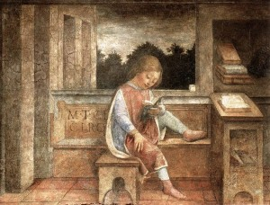 Vicenzo Foppa, Young Cicero Reading, 1464