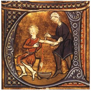 Medieval bloodletting. Something we genuinely have improved on!