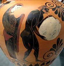 Sisyphus, depicted on a classical urn. We are still using and improving on the Sisyphus image too, finding new ways it can help us understand our world.